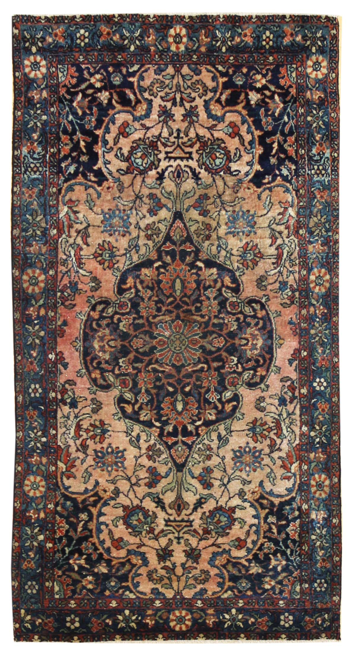 Antique Ferahan Sarouk Handwoven Traditional Rug