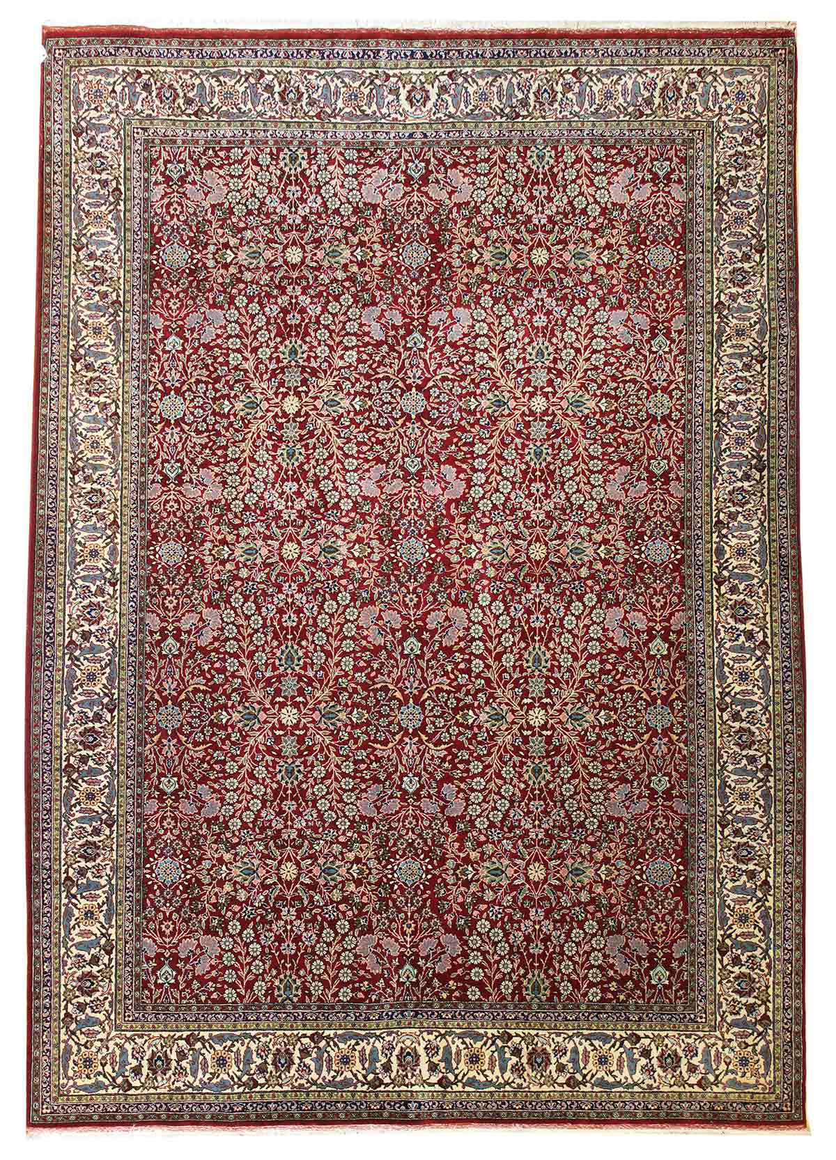 Vintage Hereke Handwoven Traditional Rug