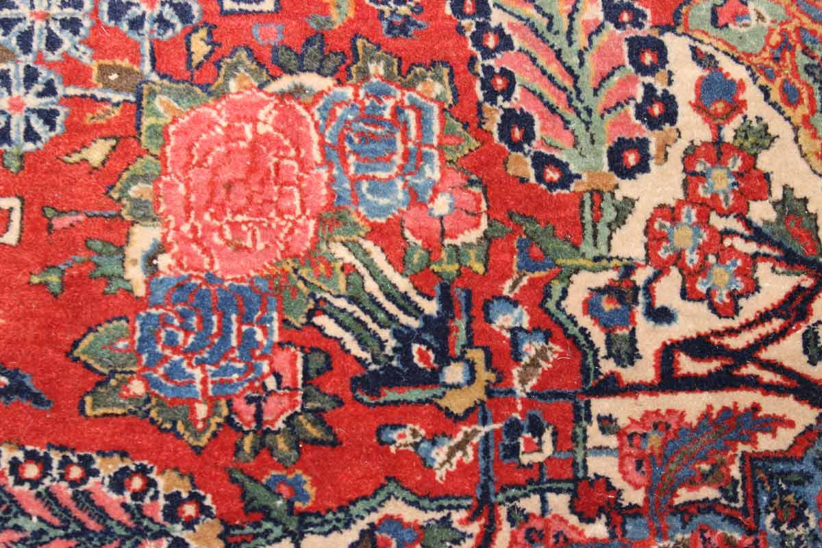 Antique Kashan Handwoven Traditional Rug