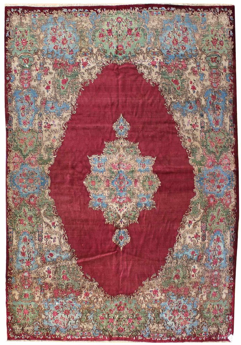 Vintage Kerman Handwoven Traditional Rug