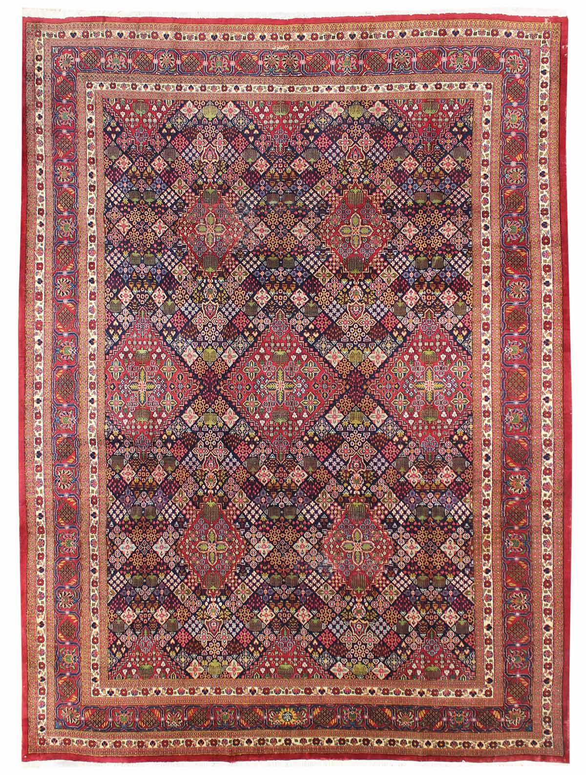 Antique Khorasan Handwoven Traditional Rug