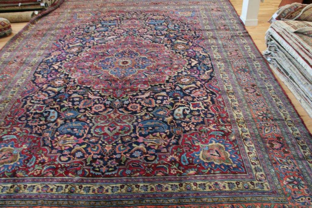 Antique Khurasan Handwoven Traditional Rug