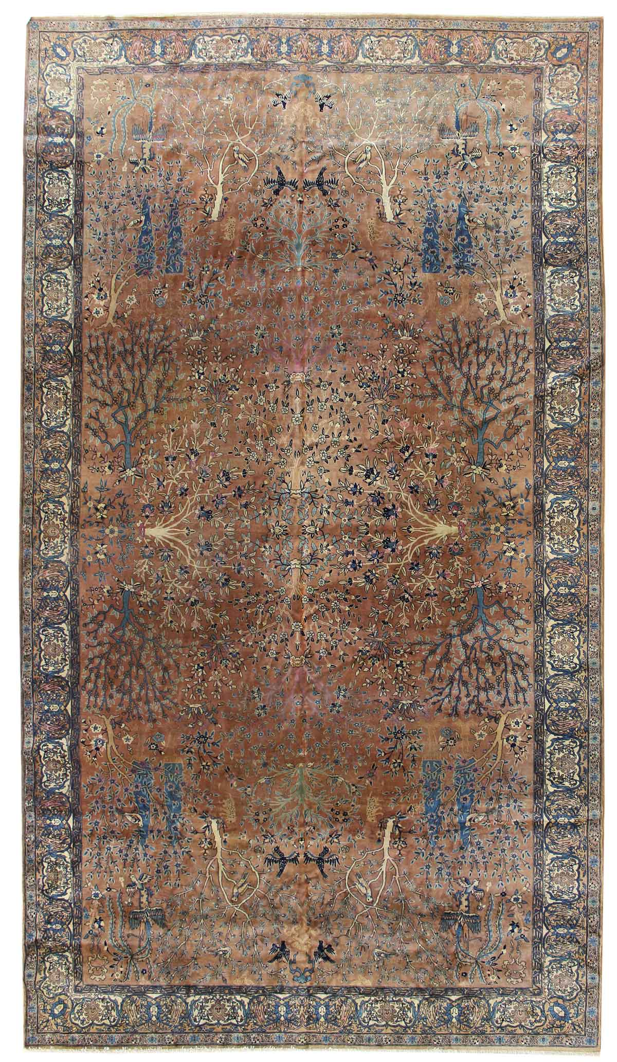 Antique Laristan Handwoven Traditional Rug