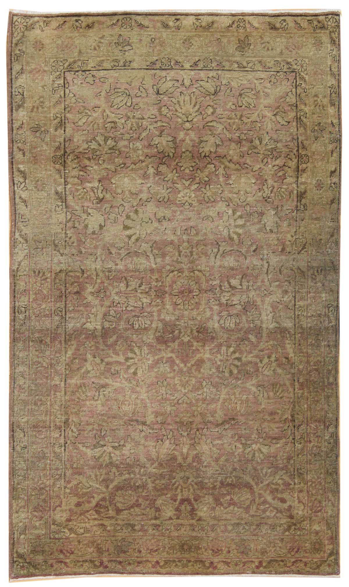 Antique Lavar Kerman Handwoven Traditional Rug
