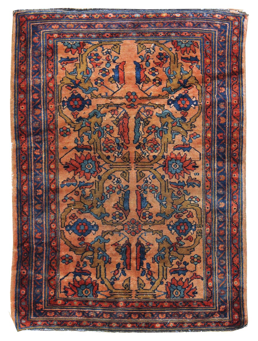 Antique Lilihan Handwoven Traditional Rug