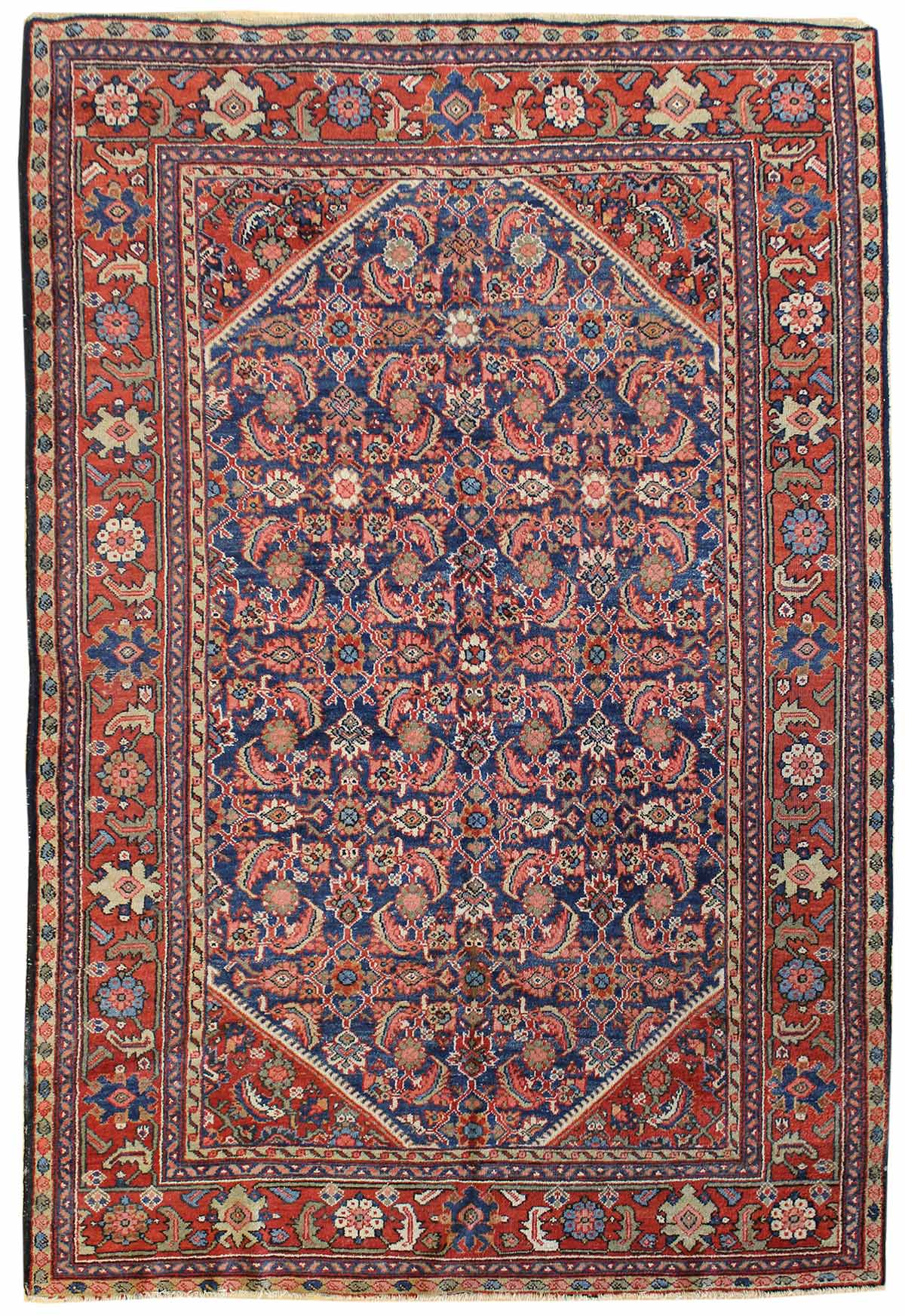 Antique Mahal Handwoven Traditional Rug