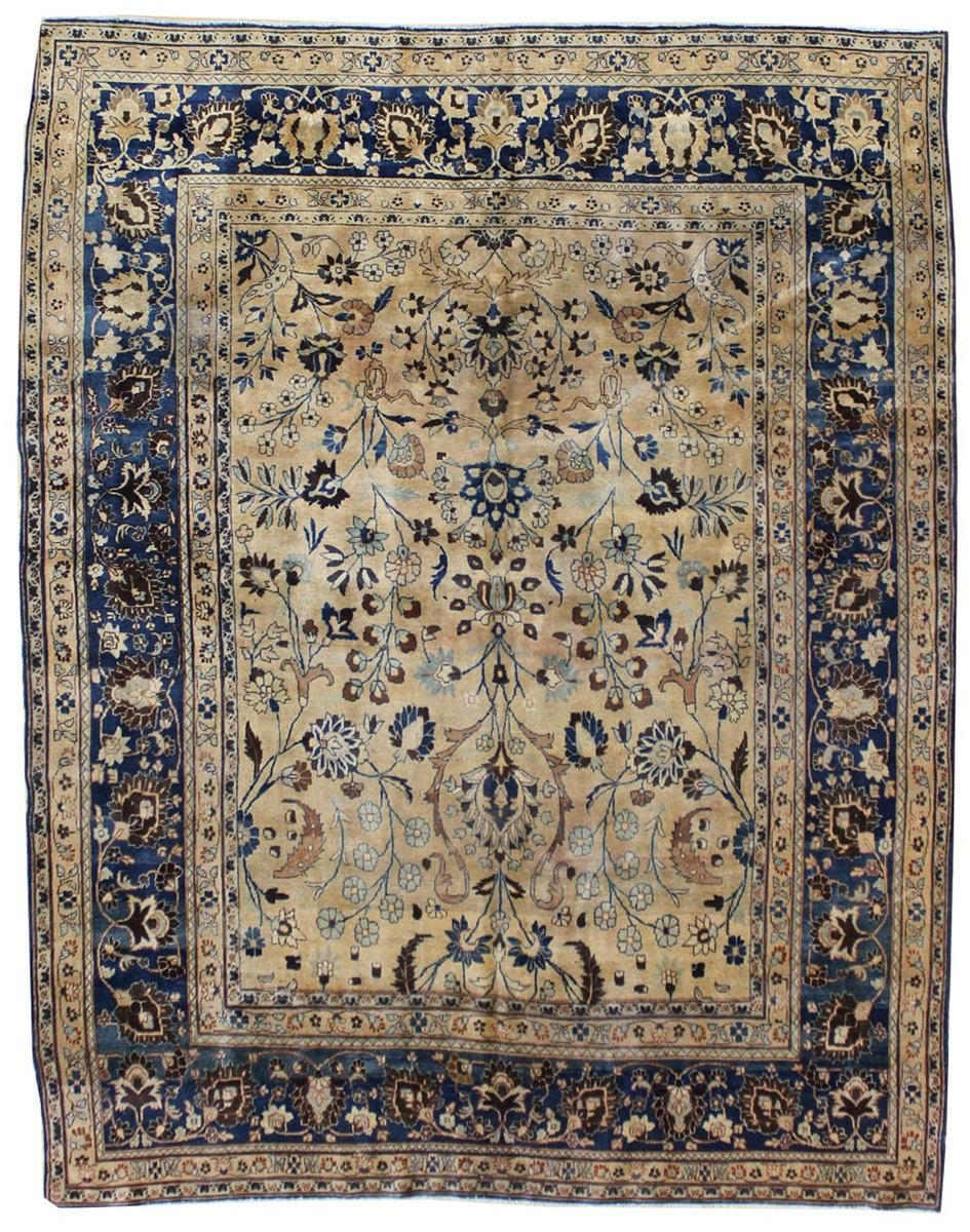Antique Mashad Handwoven Traditional Rug
