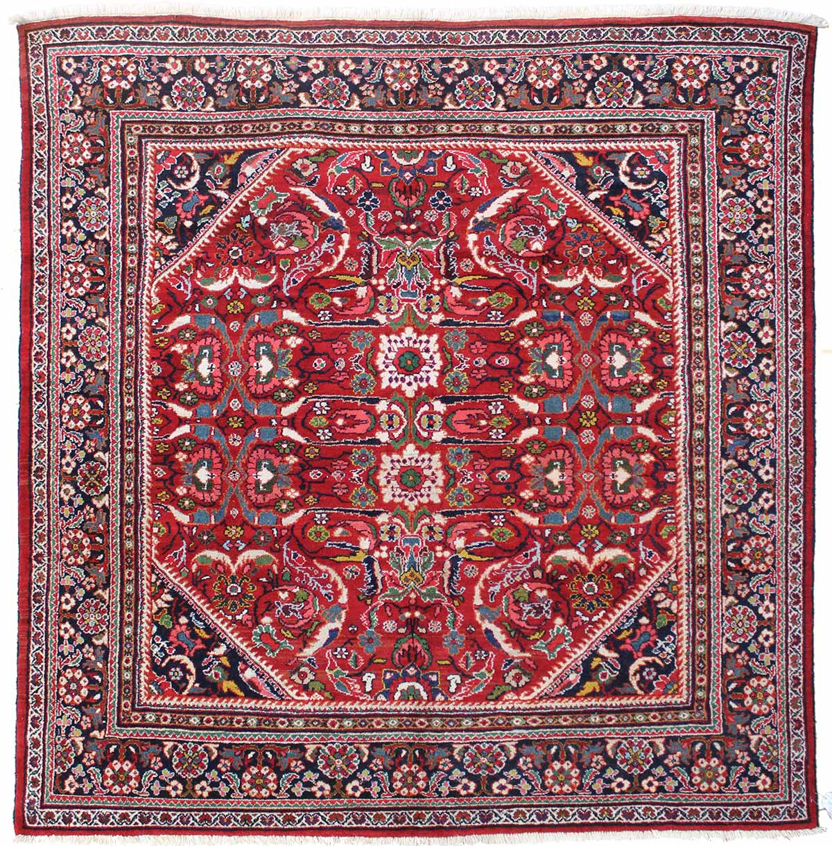 Antique Meshkabad Handwoven Traditional Rug