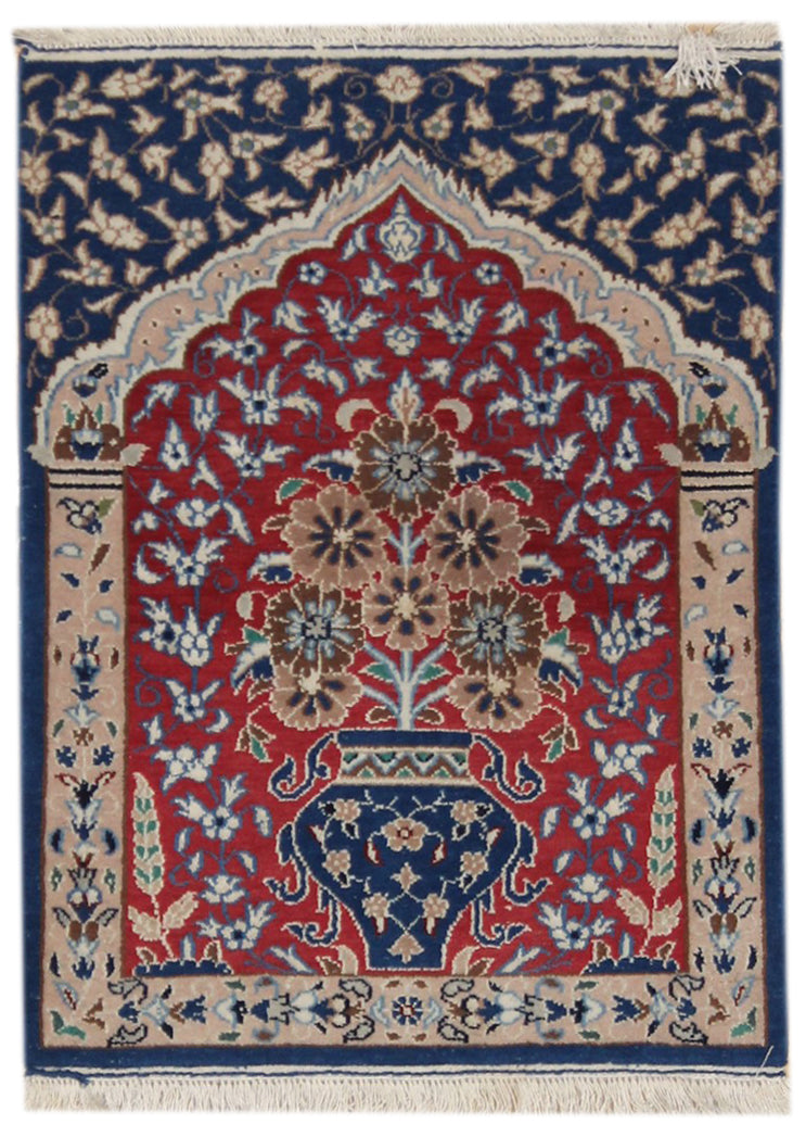 Vintage Nain Handwoven Traditional Rug