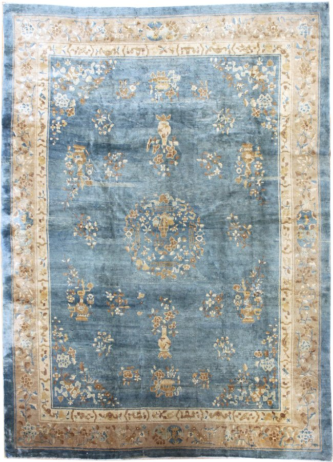 Antique Peking Handwoven Traditional Rug