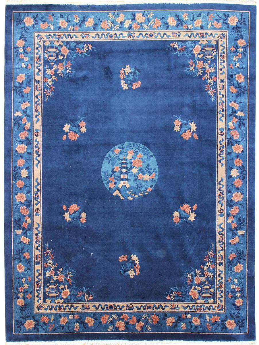 Antique Pelking Handwoven Traditional Rug