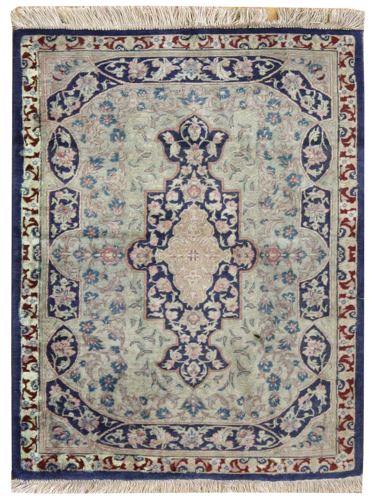 Vintage Qum Handwoven Traditional Rug