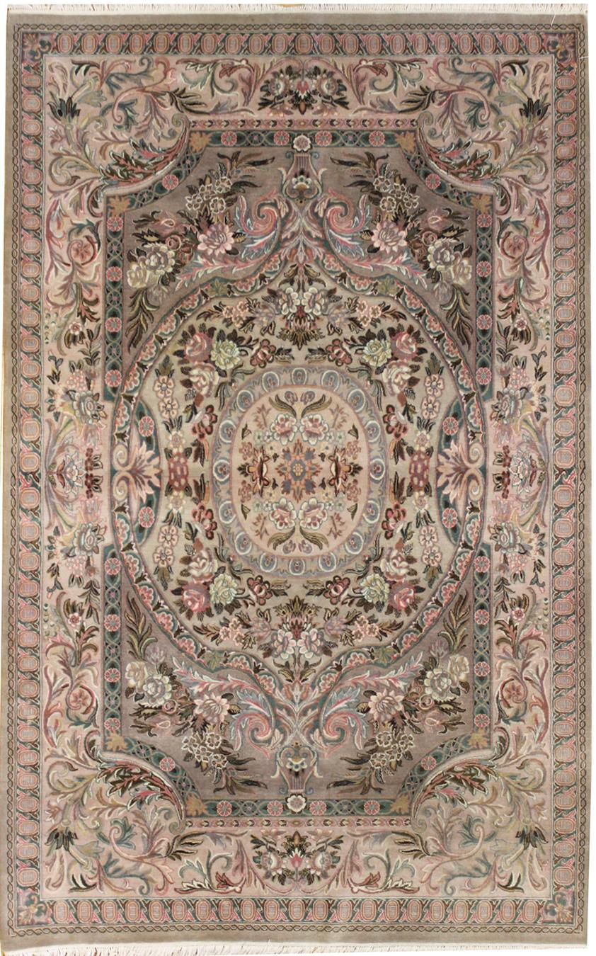Savonnerie Handwoven Traditional Rug