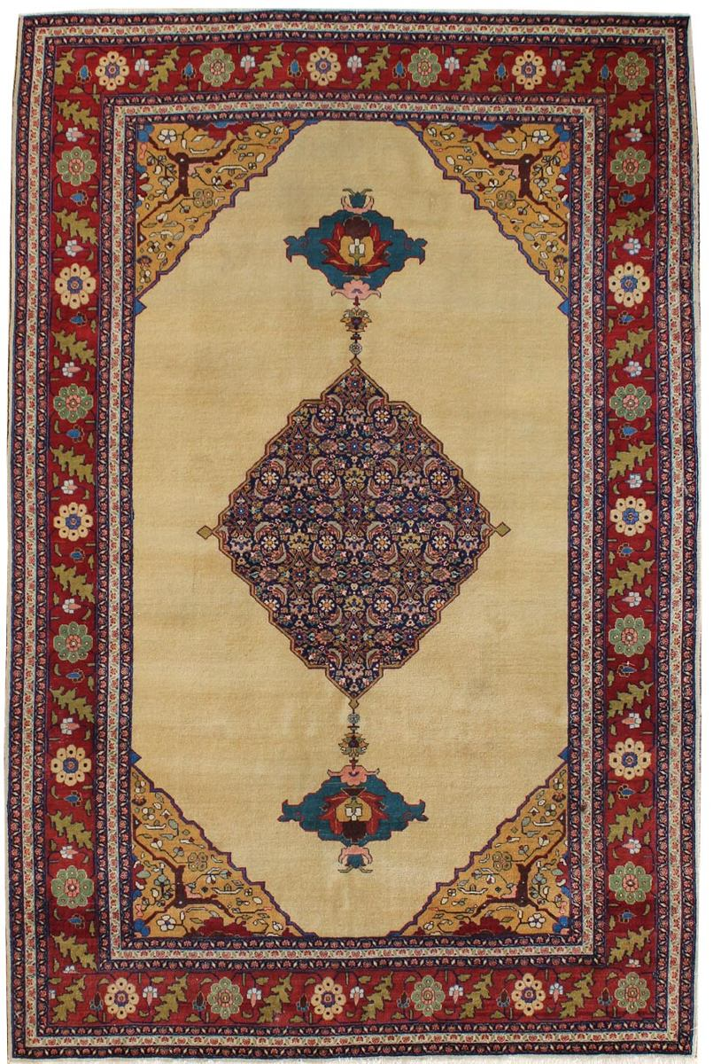 Antique Tabriz Handwoven Traditional Rug