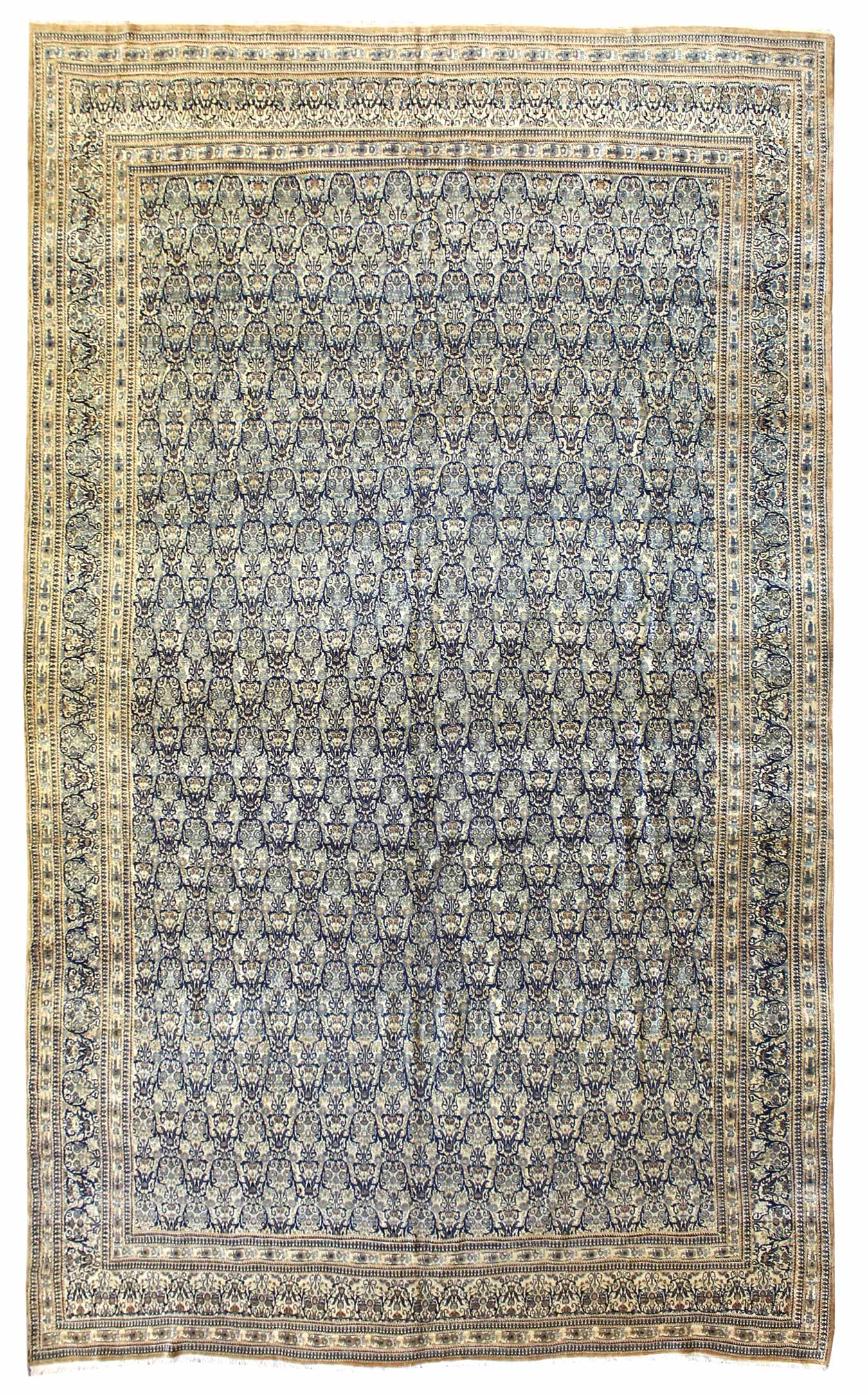 Antique Tehran Handwoven Traditional Rug