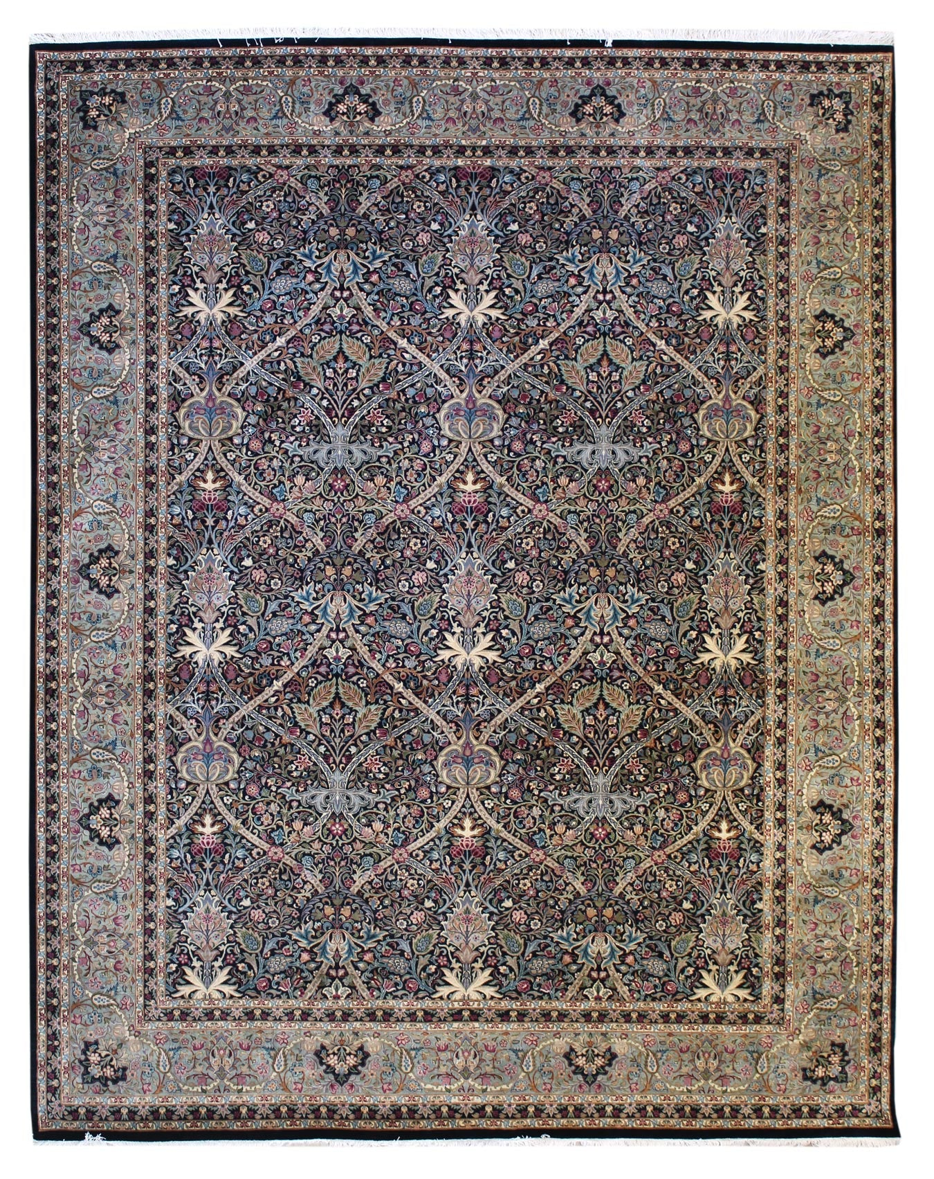 William Morris Handwoven Traditional Rug