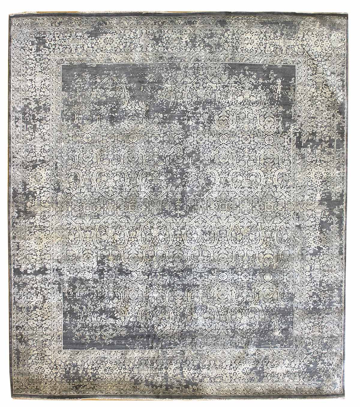 Erased Haji Handwoven Transitional Rug