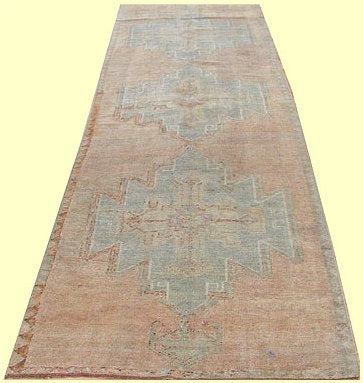 Antique Anatolian Handwoven Tribal Rug