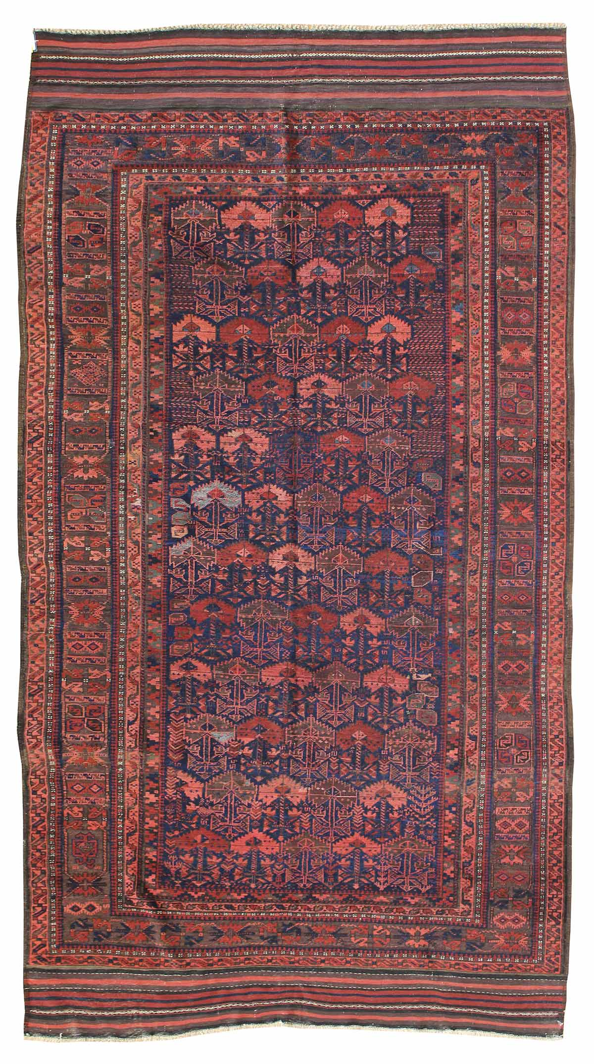 Antique Baluchi Handwoven Tribal Rug