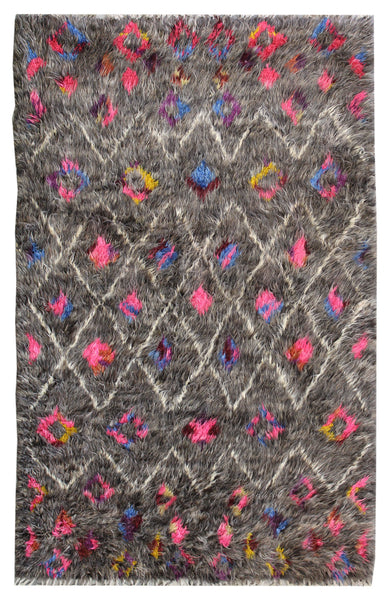 Beni Ouraine Handwoven Tribal Rug