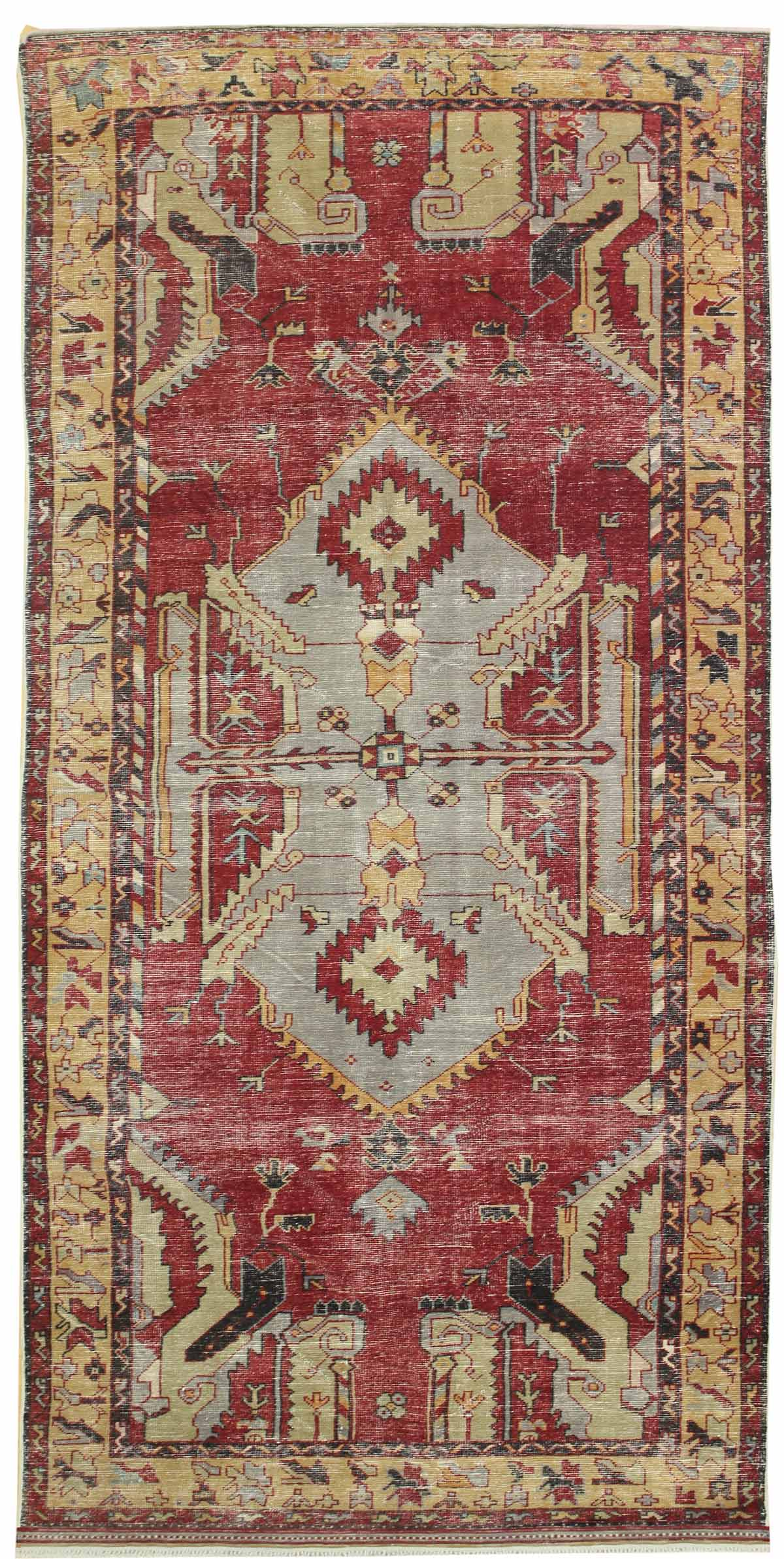 Vintage Dragon Handwoven Tribal Rug