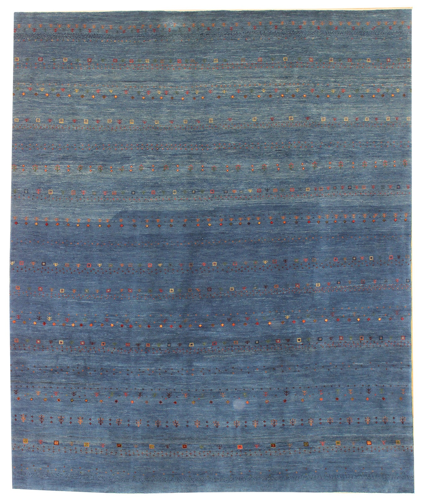 Figures Gabbeh Handwoven Tribal Rug