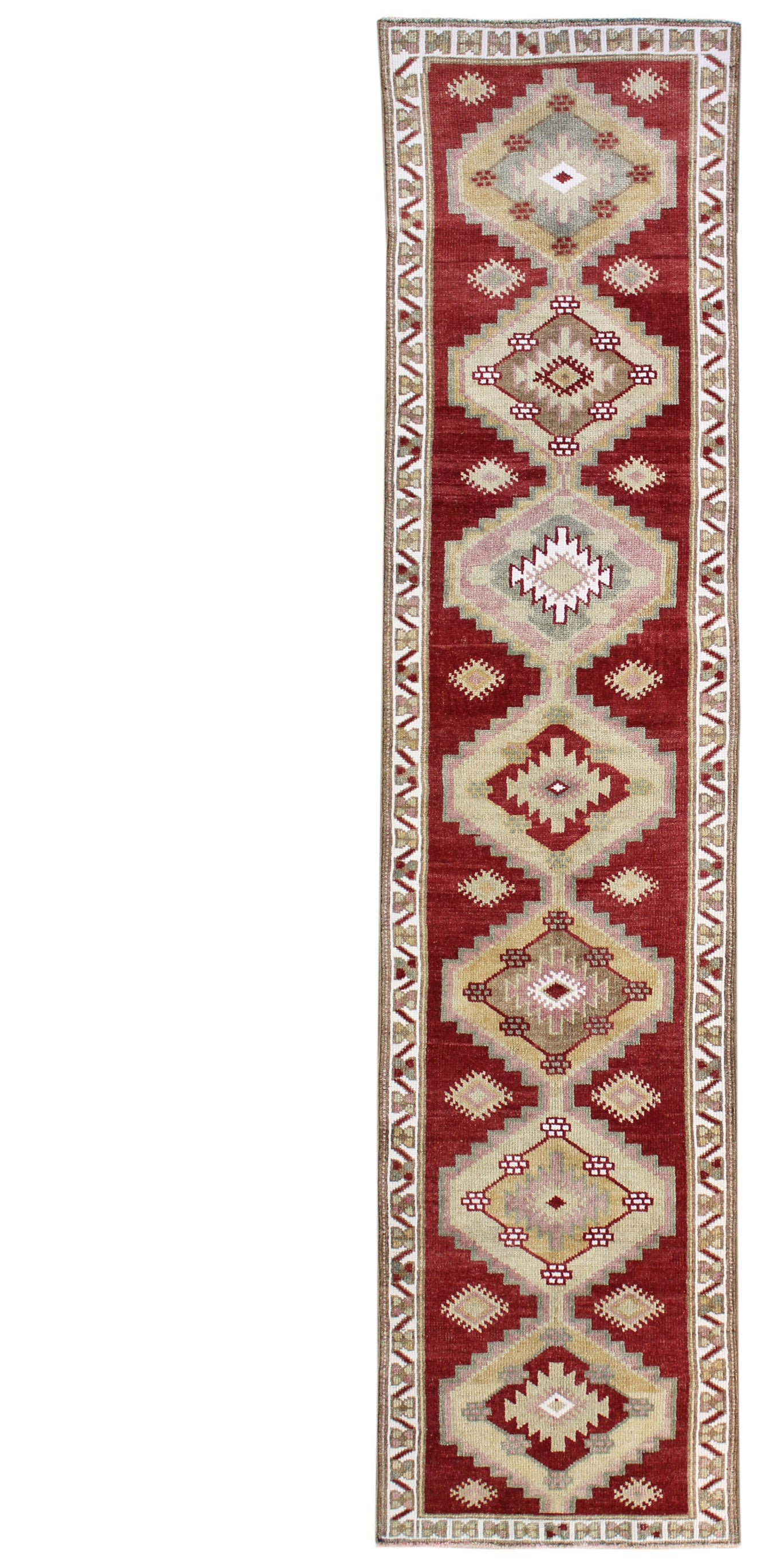 Vintage Kurdish Handwoven Tribal Rug