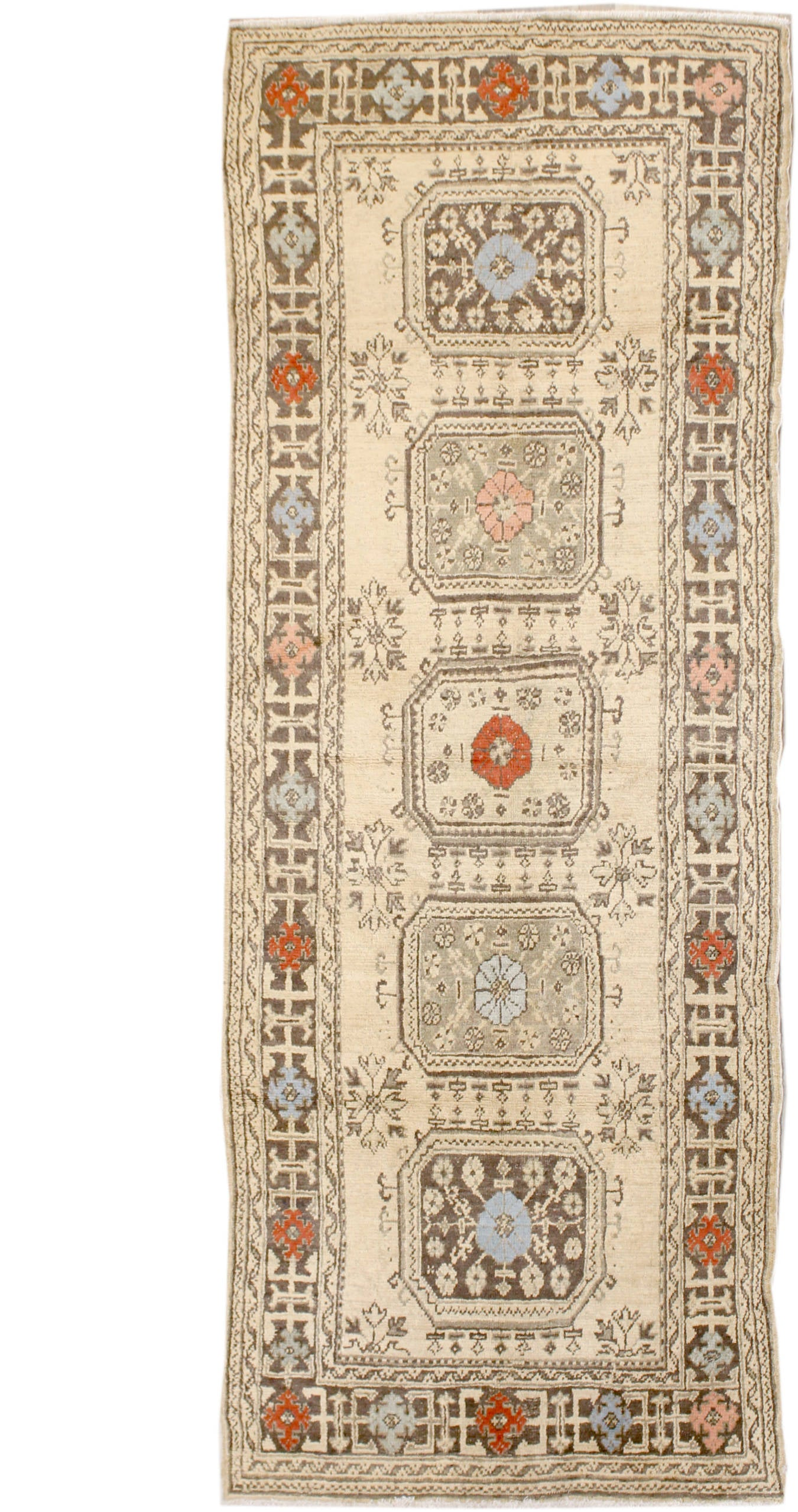 Antique Oushak Handwoven Tribal Rug