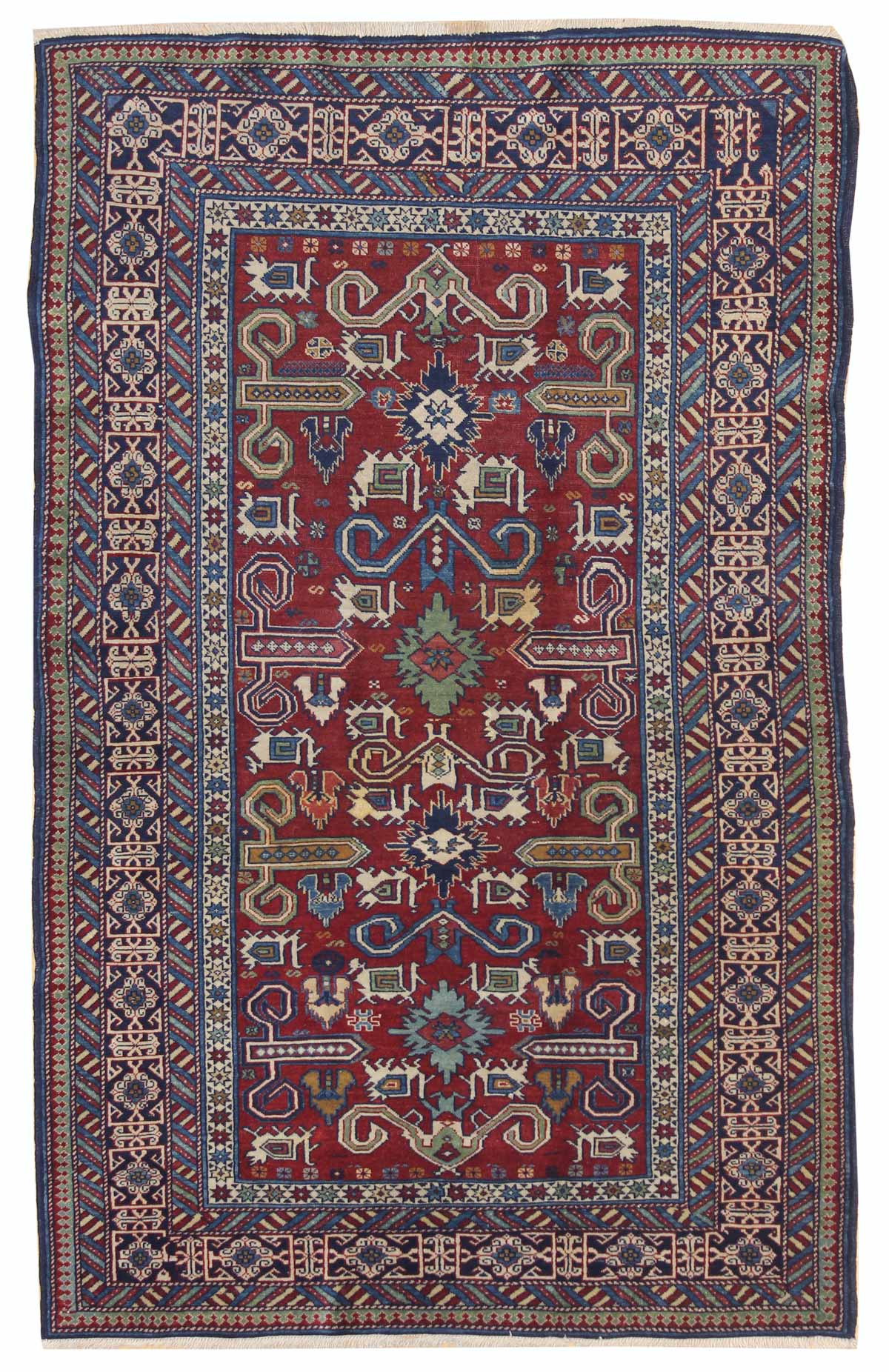 Antique Perpadil Handwoven Tribal Rug