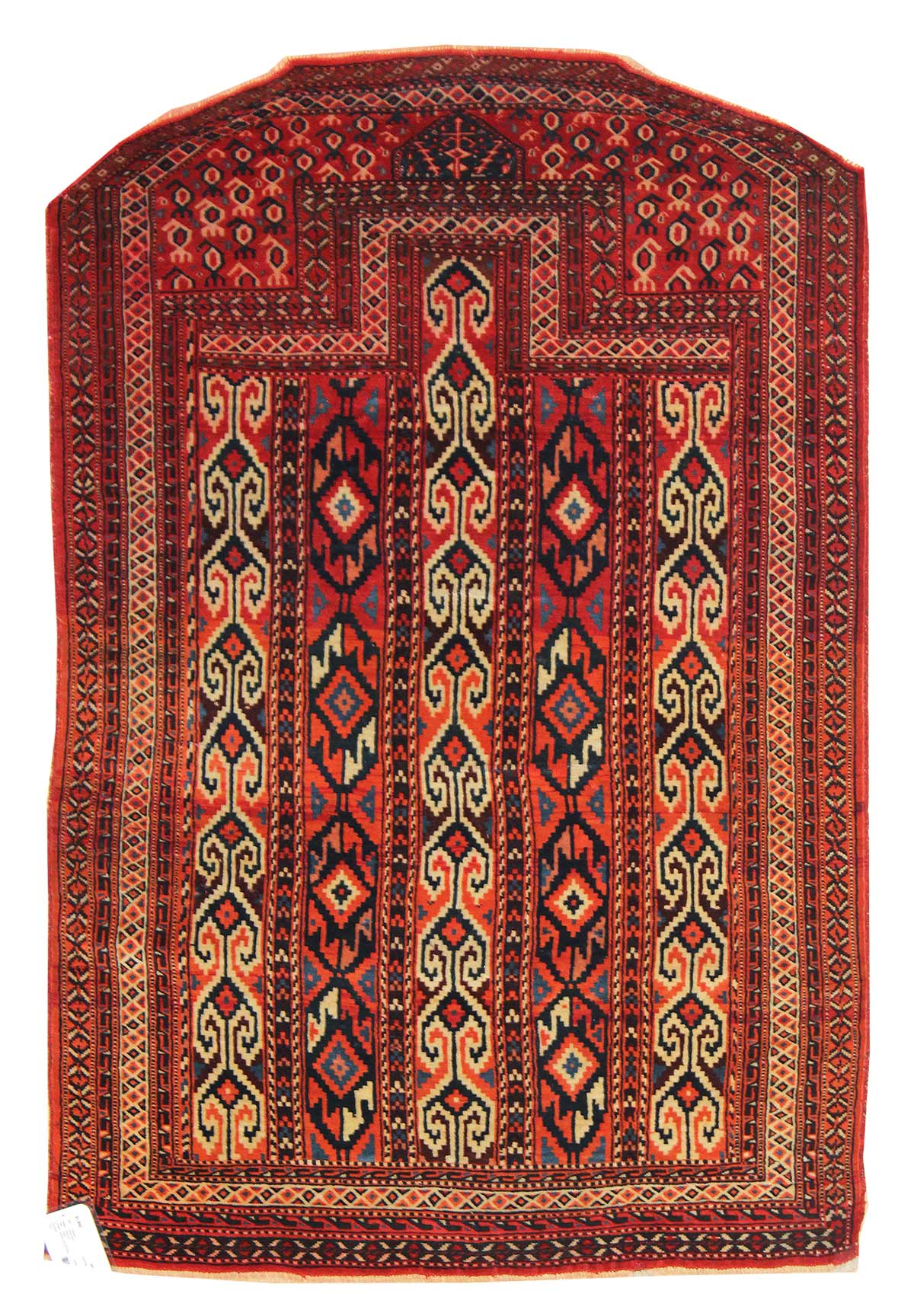 Antique Yomud Handwoven Tribal Rug