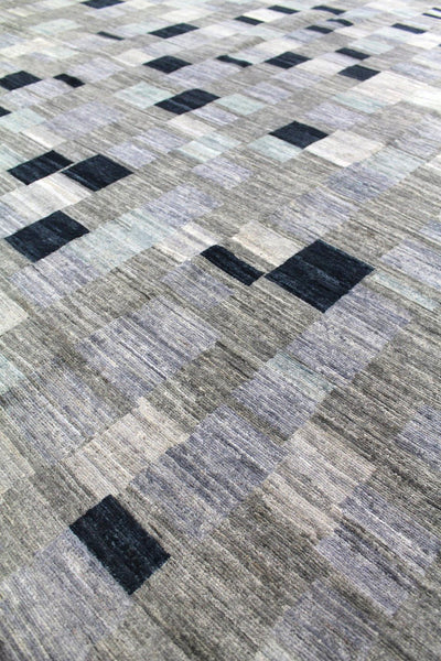 Board Game Handwoven Contemporary Rug