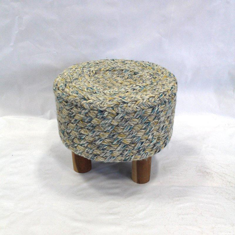 Felted Wool Handwoven Contemporary Ottoman