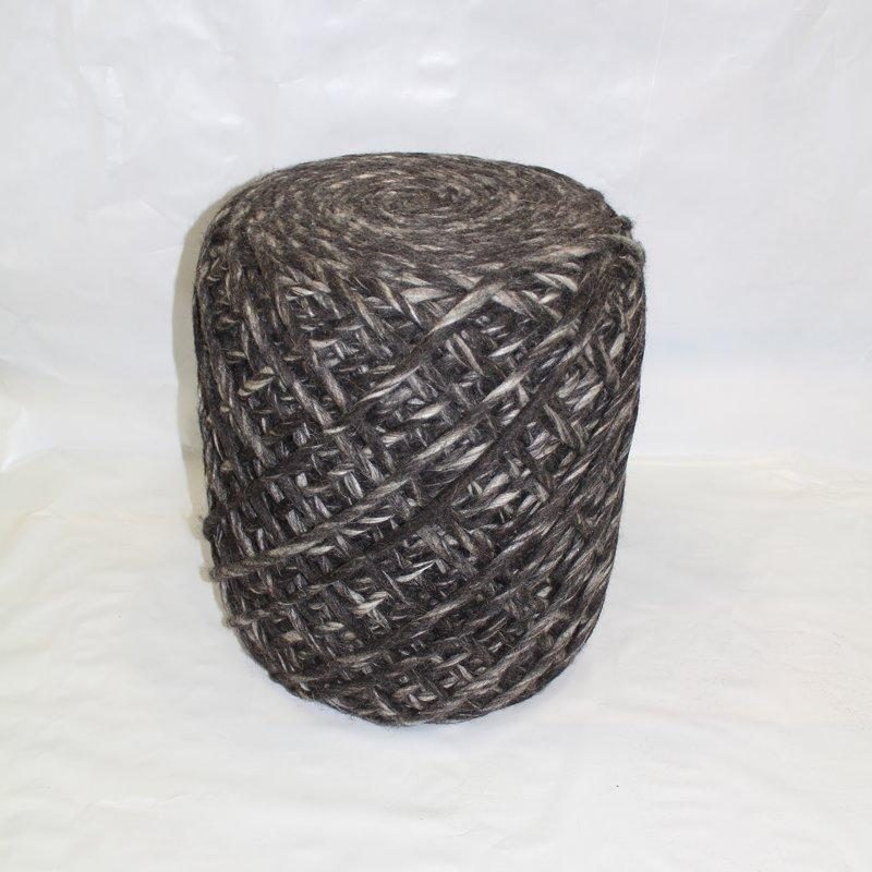 Felted Wool Handwoven Contemporary Pouf Ottoman