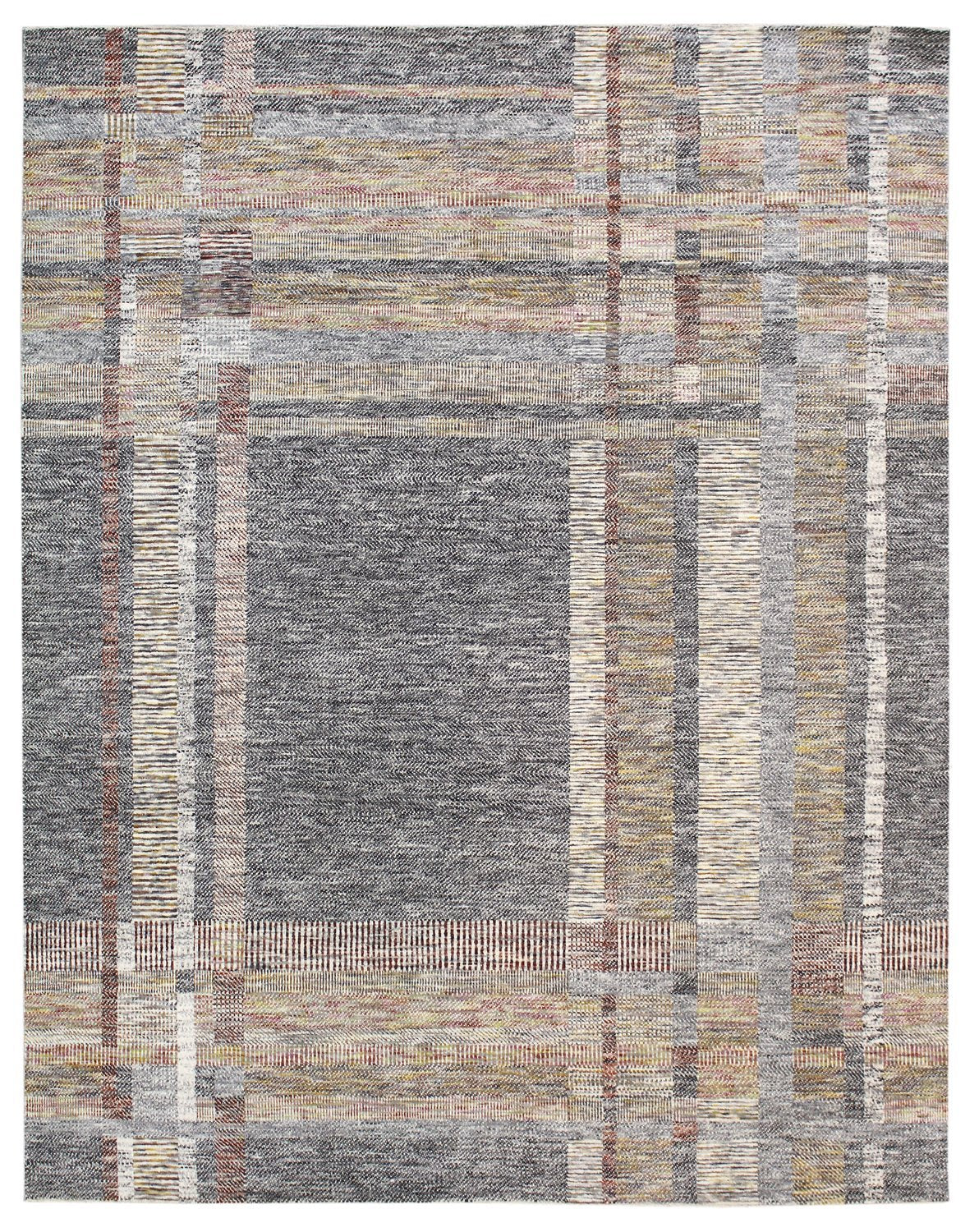 Gingham Handwoven Contemporary Rug