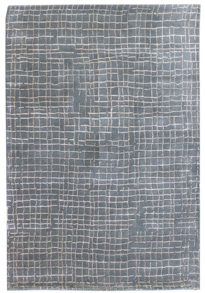 Organic Grid Tufted Contemporary Rug