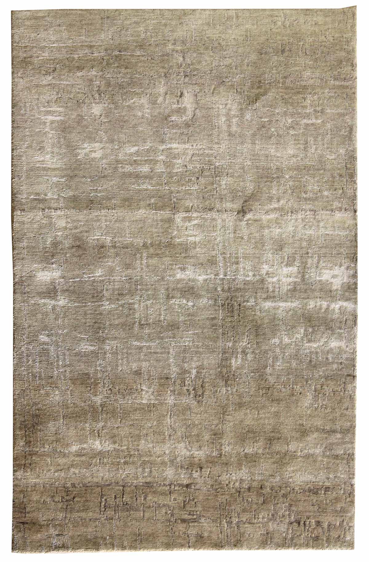 Patinated Look Handwoven Contemporary Rug
