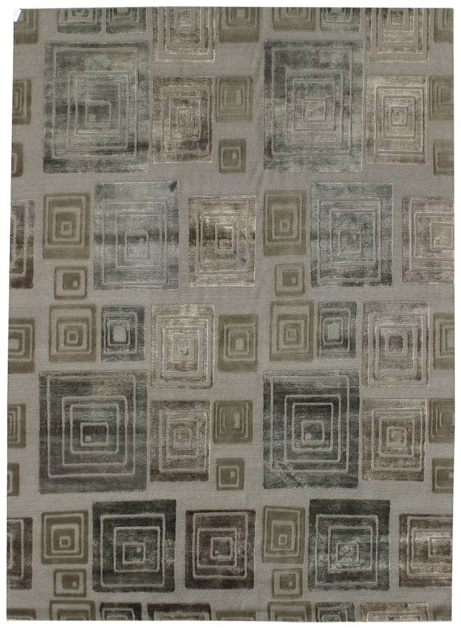 Sixties Handwoven Contemporary Rug
