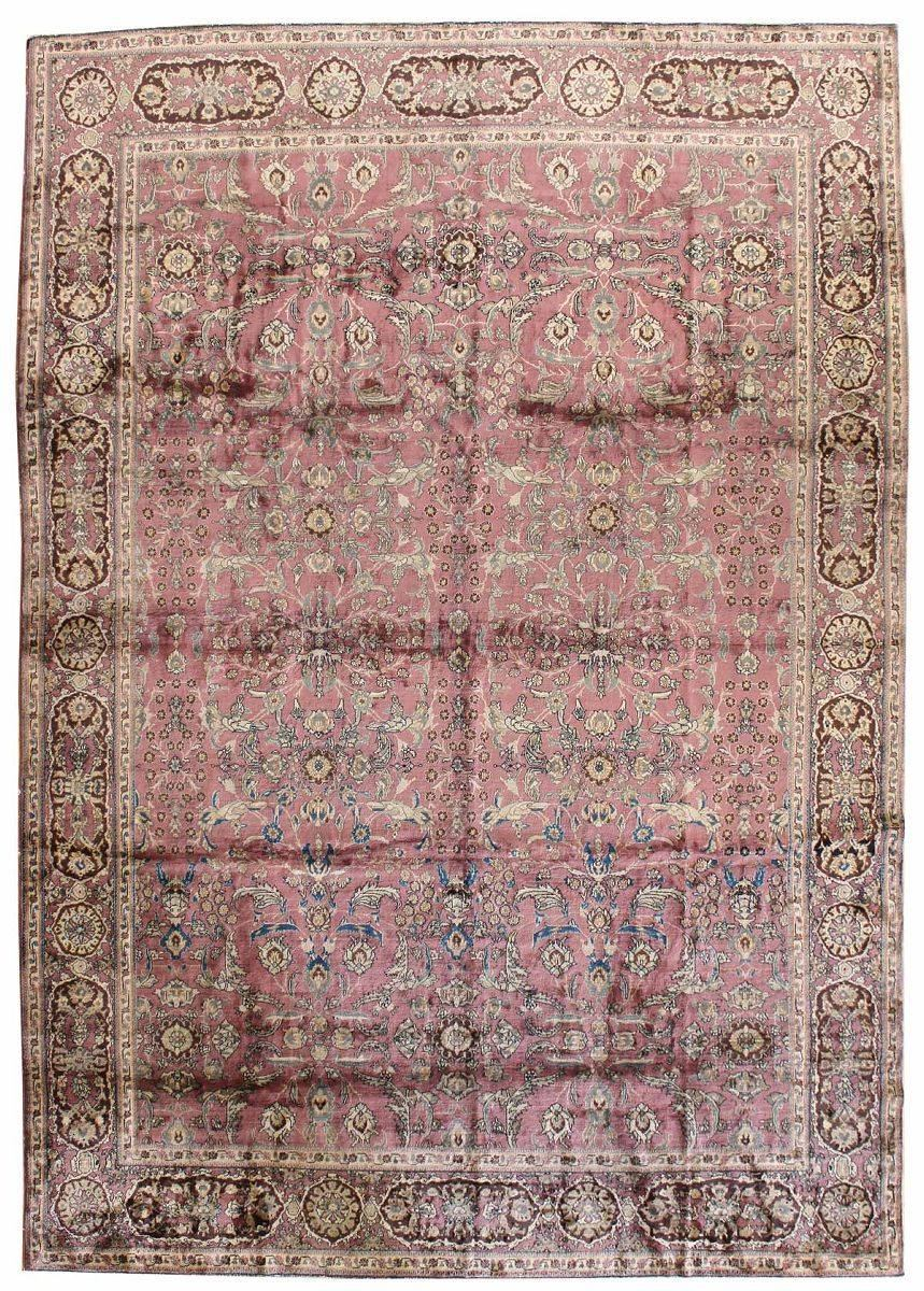 Antique Agra Handwoven Traditional Rug