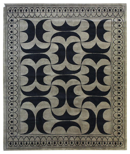 Art Deco Pile Traditional Rug