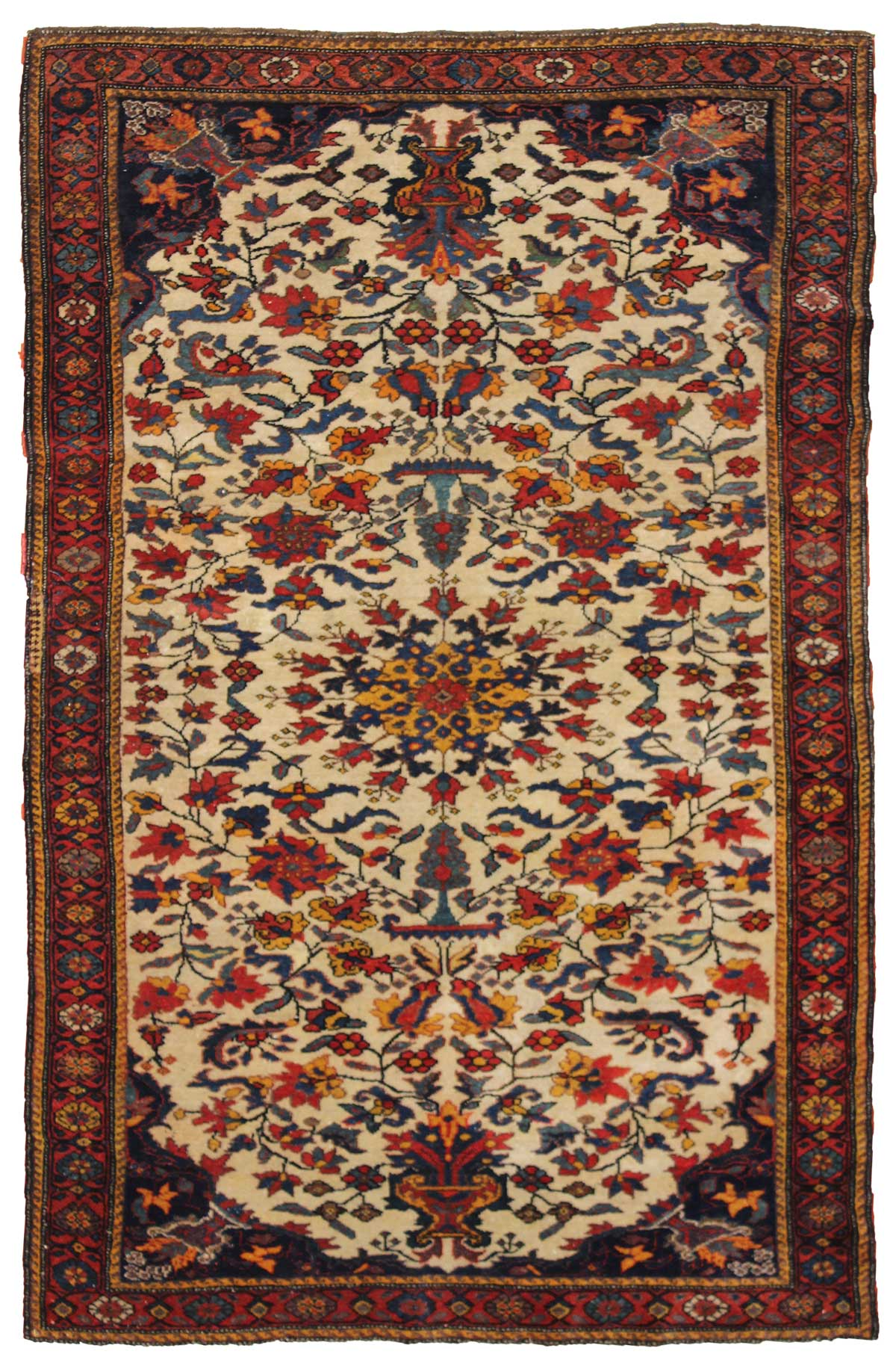 Antique Bakhtiari Handwoven Traditional Rug