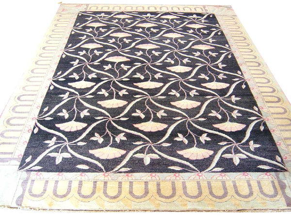 Ginko Leaf Handwoven Traditional Rug