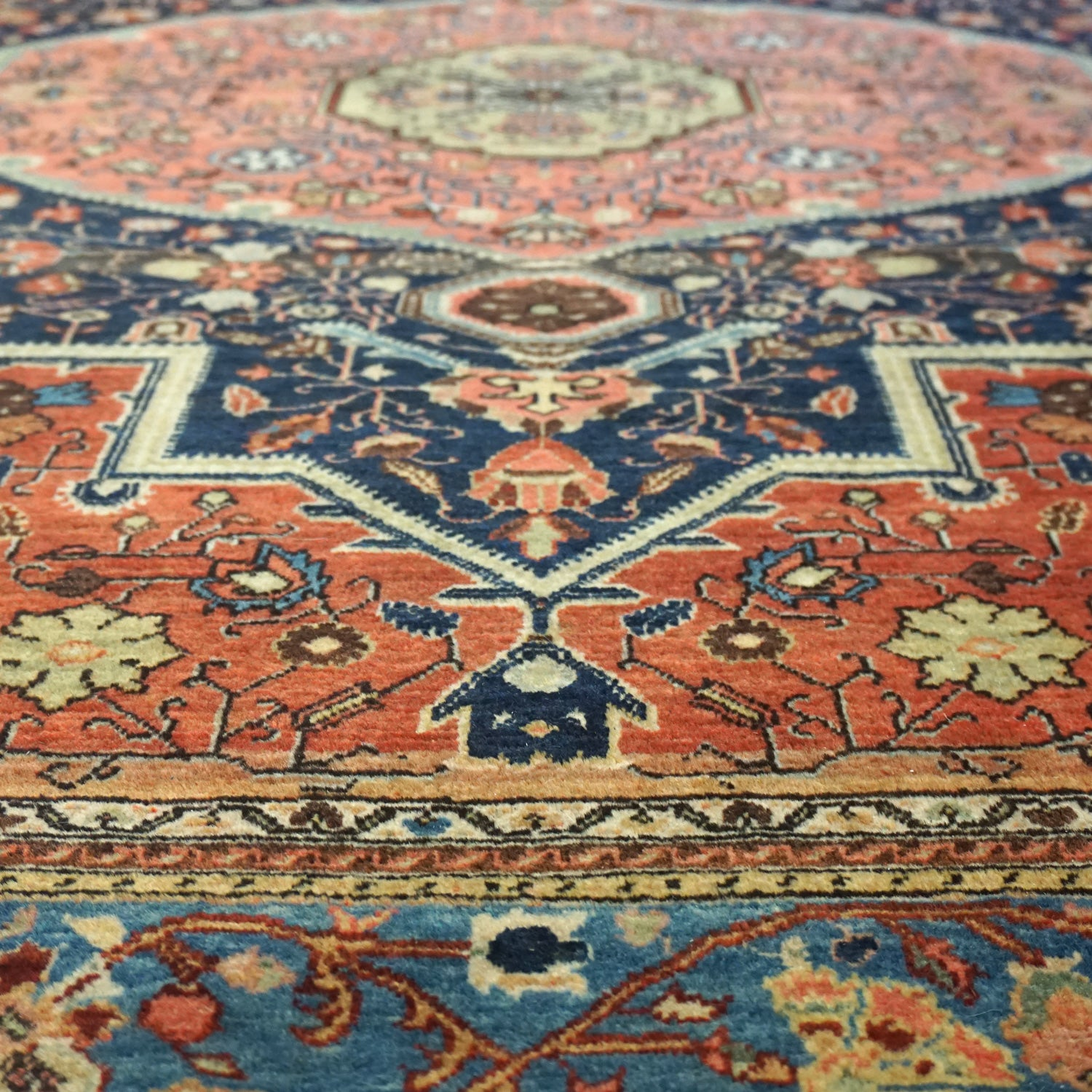 Antique Jozan Handwoven Traditional Rug