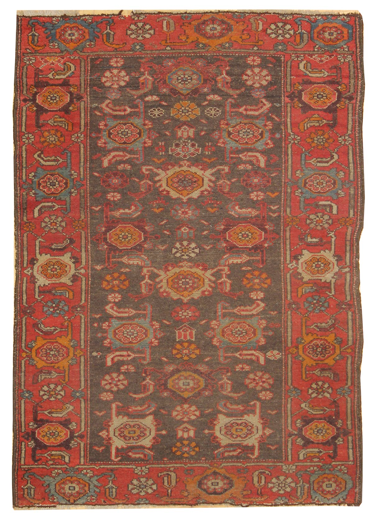 Antique Malayer Handwoven Traditional Rug