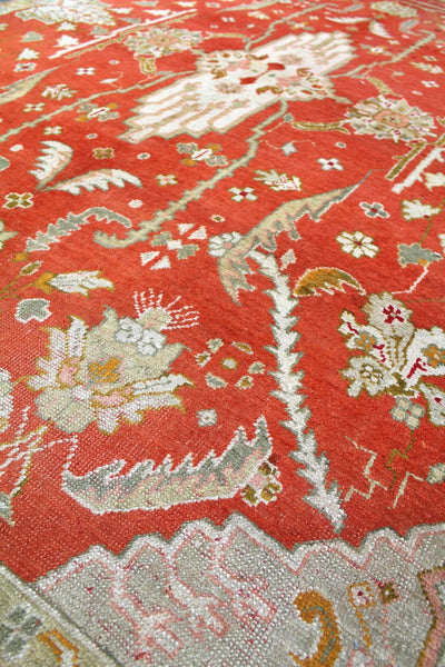 Antique Oushak Handwoven Traditional Rug
