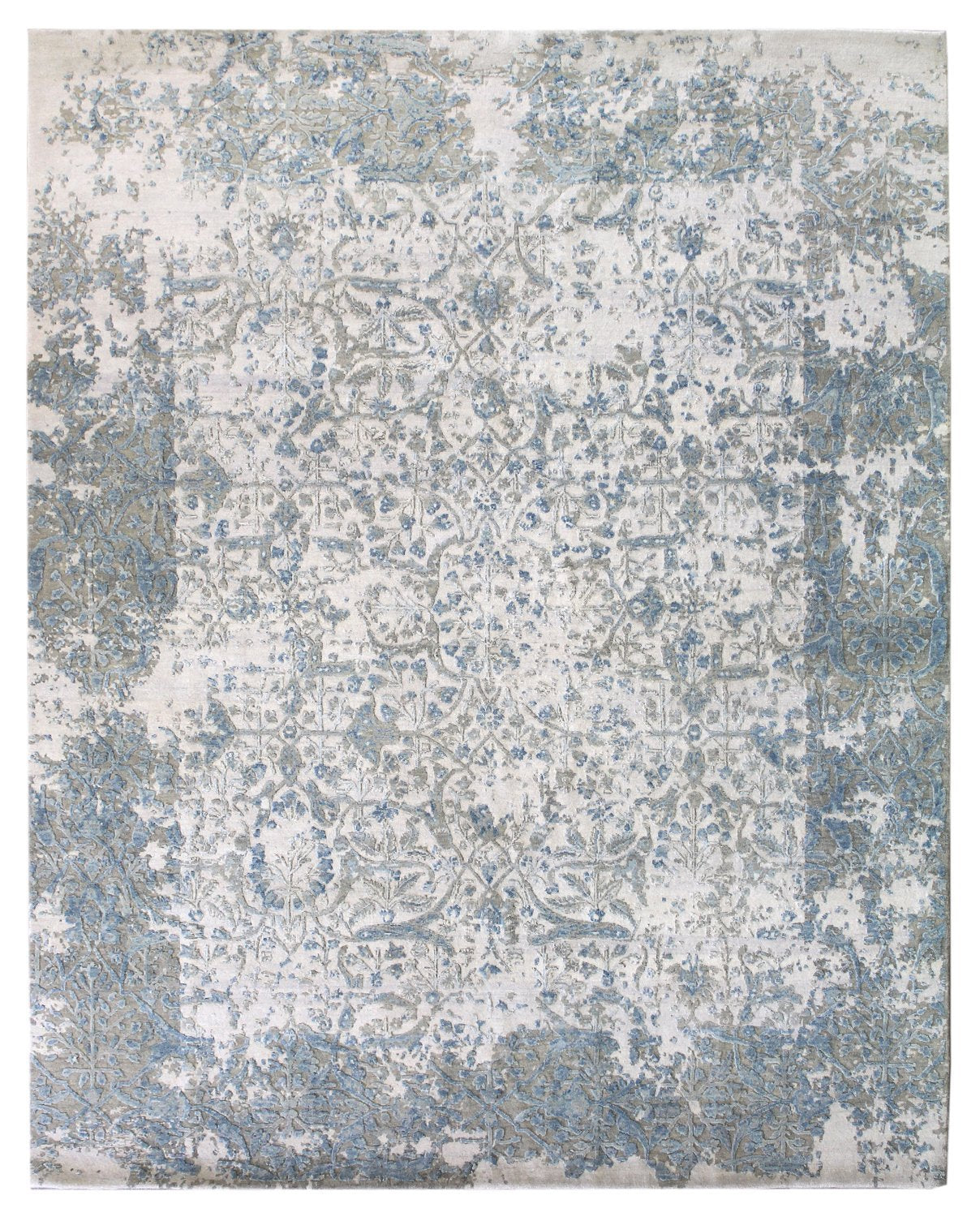 Carved Arabesque Handwoven Transitional Rug