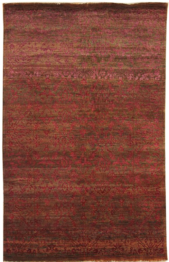Damask Handwoven Transitional Rug