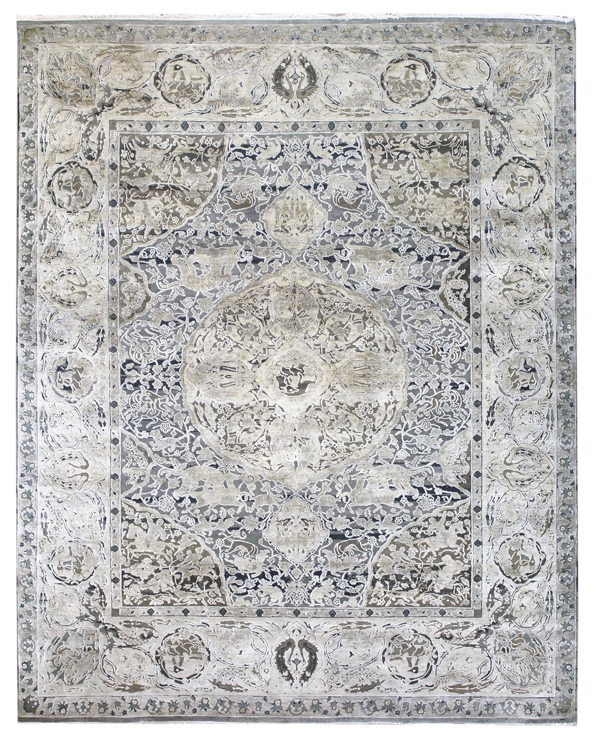 Medallion Agra Handwoven Transitional Rug