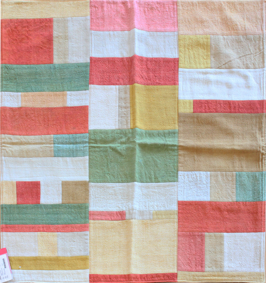 Vintage Patchwork Kilim Handwoven Transitional Rug