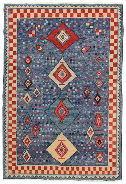 Azeri Handwoven Tribal Rug
