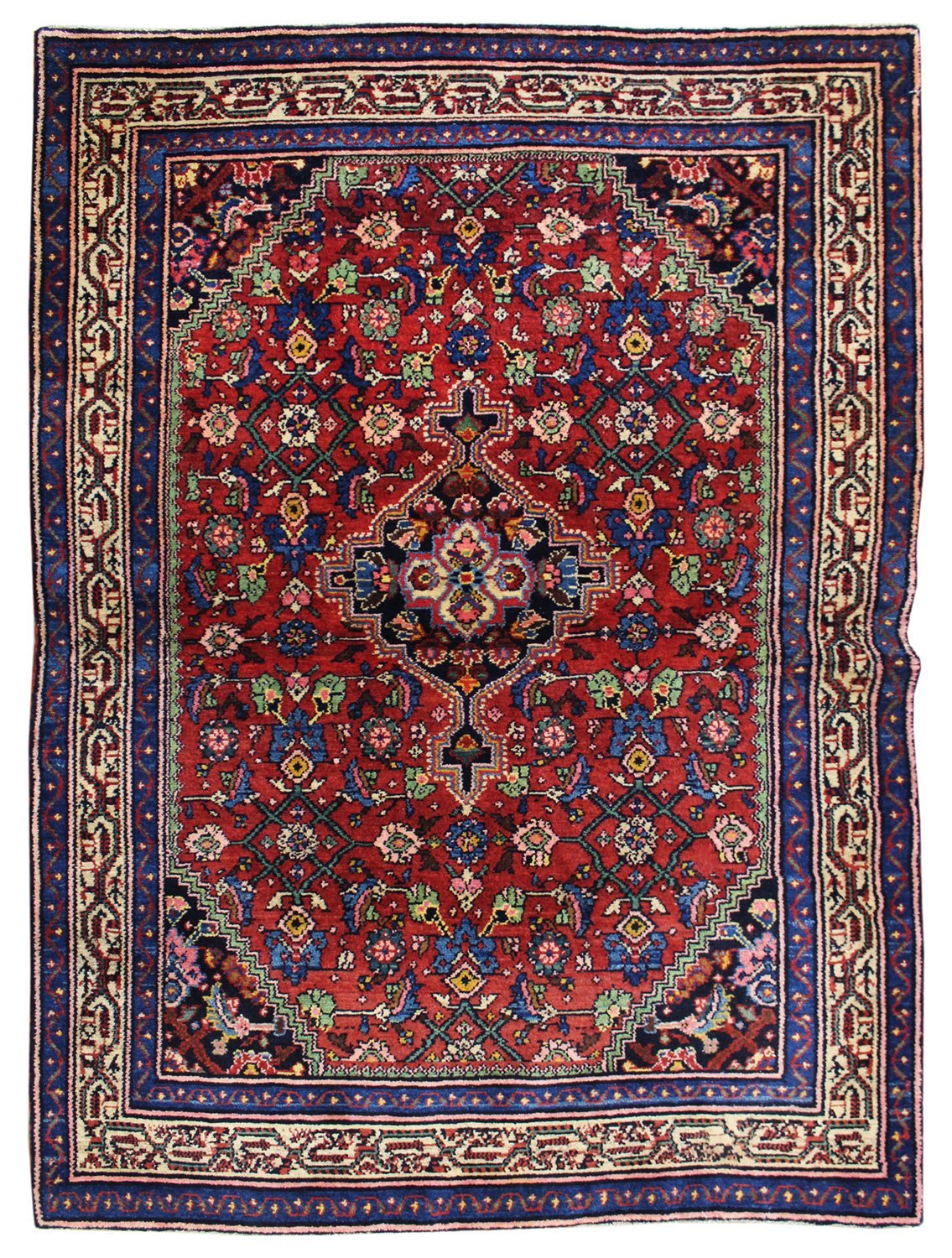 Antique Bibikabad Handwoven Tribal Rug